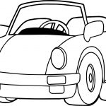 Speed Toy Car Coloring Page