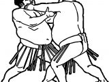 Sport Fight Graphics Sumo Wrestling Coloring Page