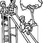 Summer Slide Kids Coloring Page