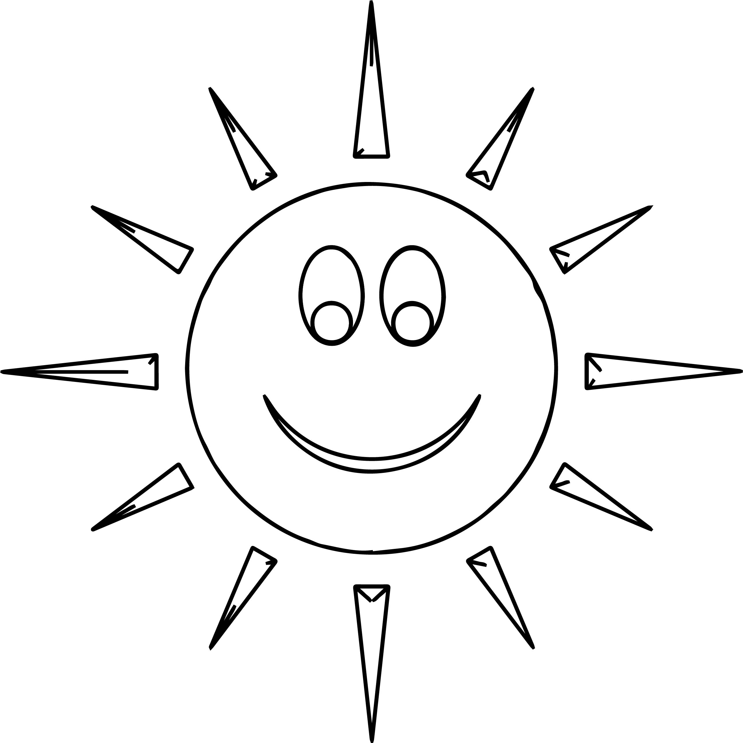 Sun Atmosphere Coloring Page