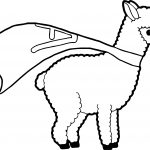 Superman Alpaca Coloring Page