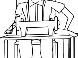 Tailor Man Machine Coloring Page