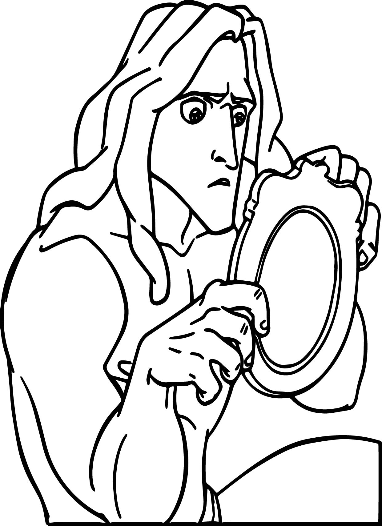 Tarzan picture coloring page for Tarzan coloring pages
