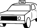 Taxi Box Car Coloring Page