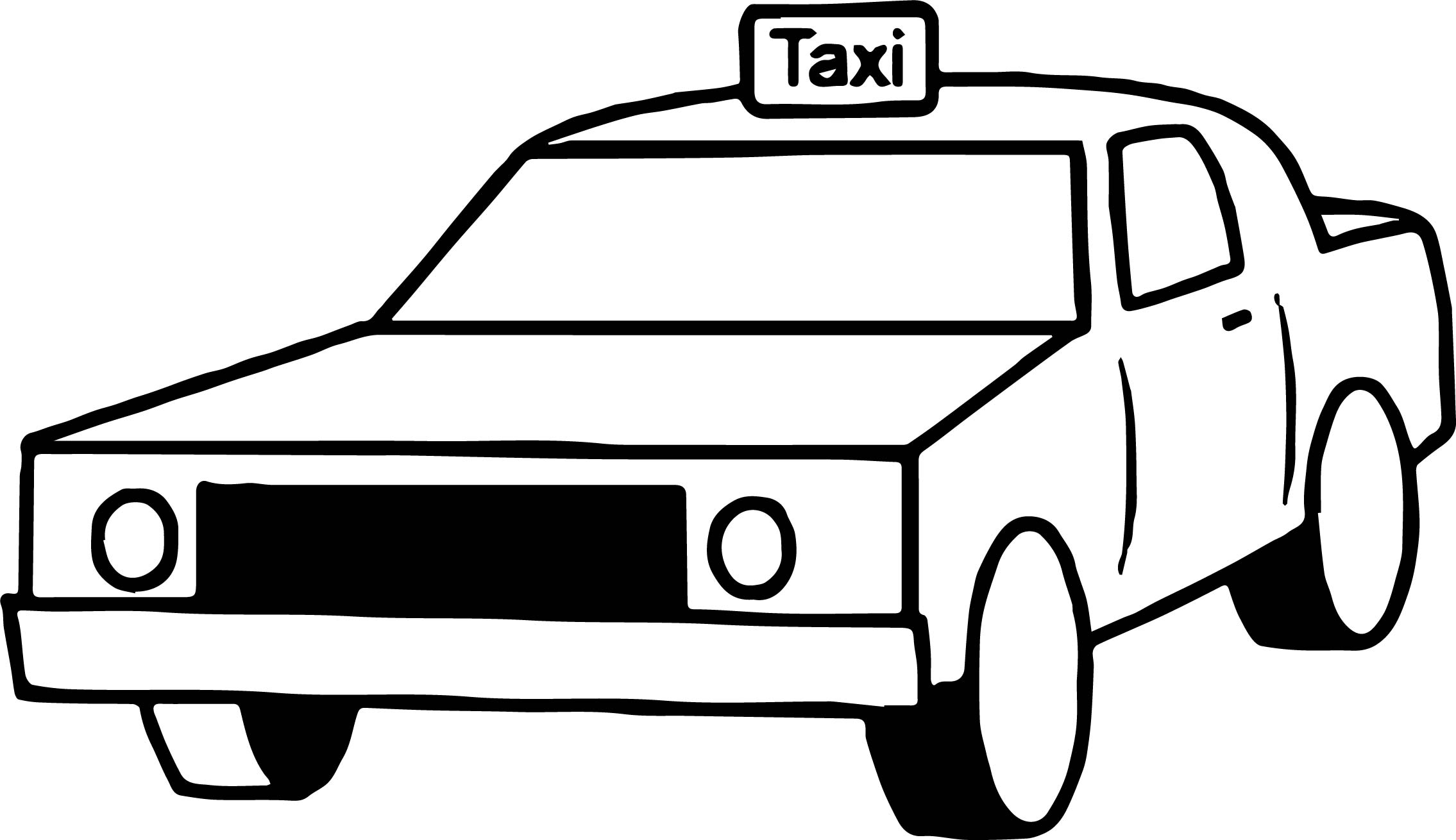 Taxi box car coloring page for Taxi coloring page