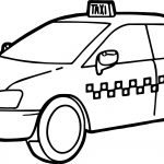 Taxi Driver Car Fast Coloring Page
