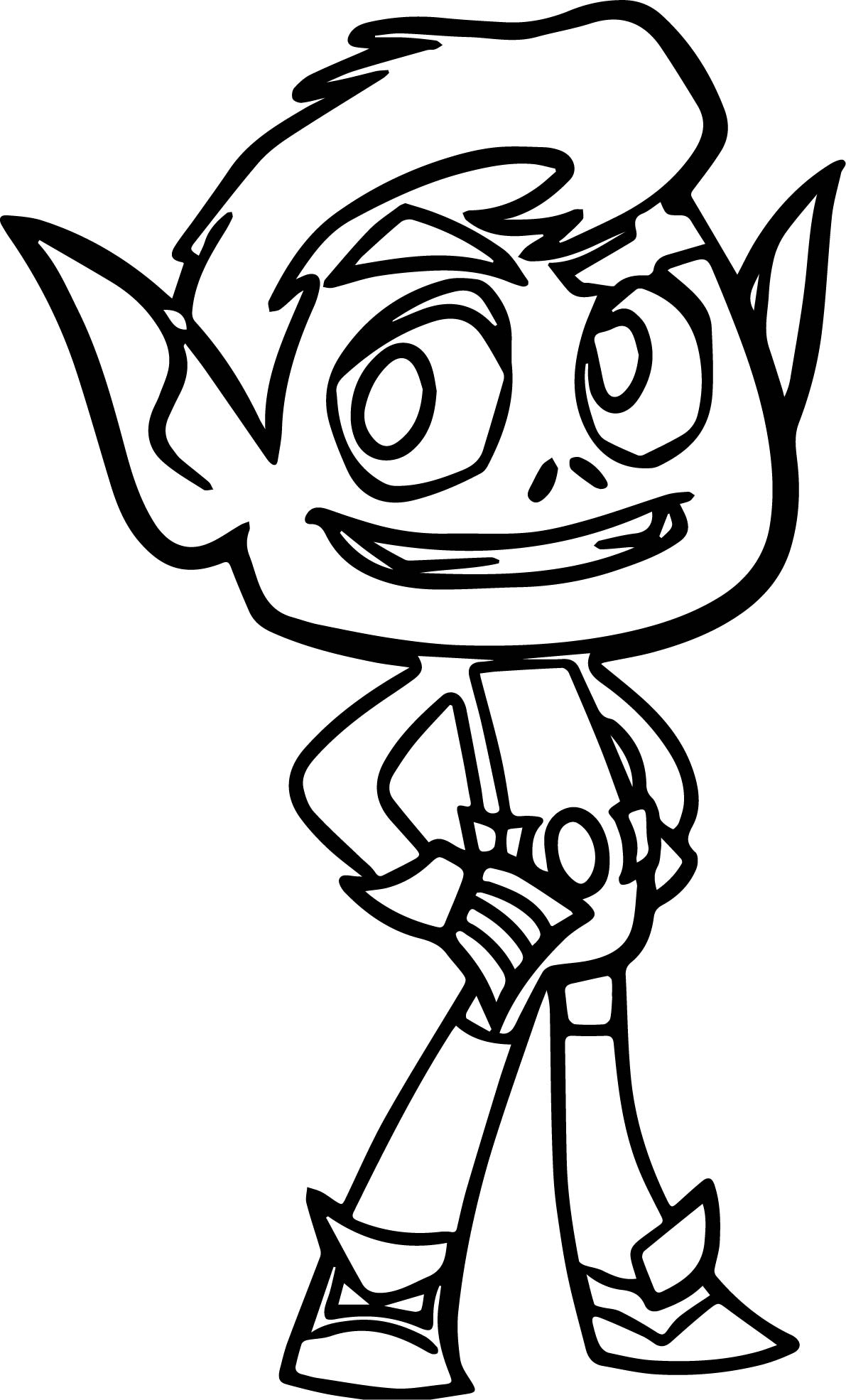 Teen titans go beast boy good coloring page for Teen titans coloring pages