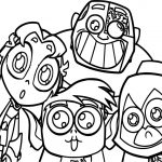 Teen Titans Go Robin Team Coloring Pages