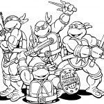 Teenage Mutant Ninja Turtles Cartoon Coloring Page