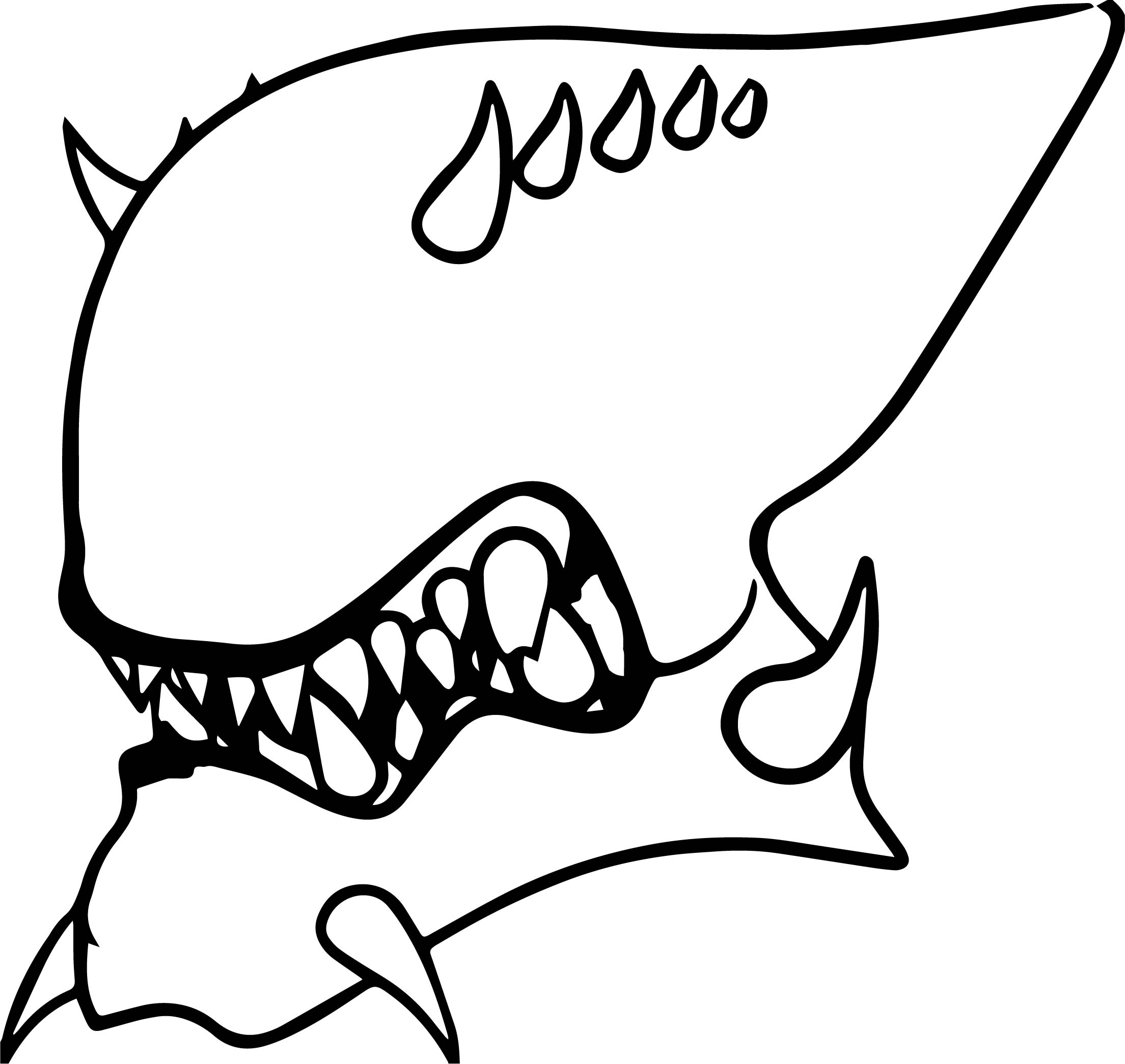 Terrible Alien Face Coloring Page