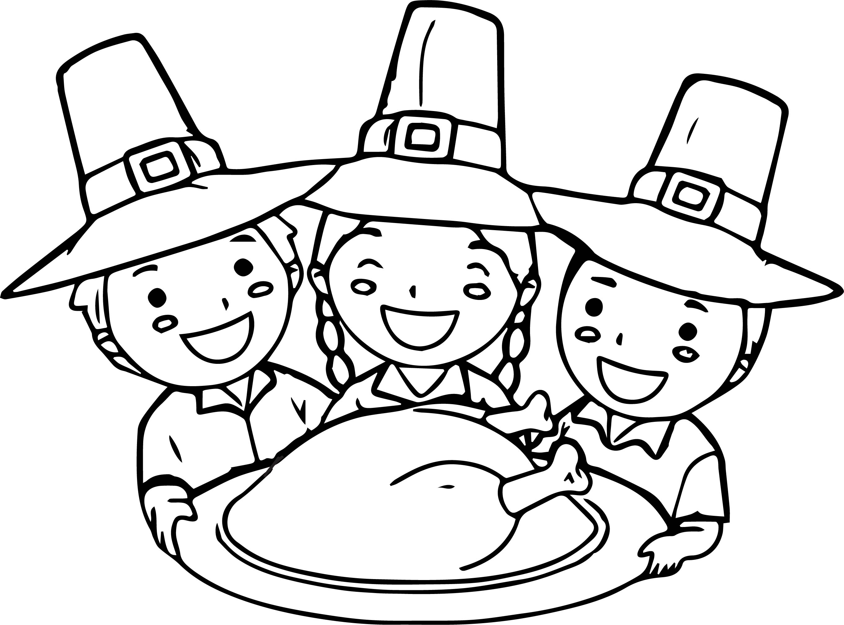 Thanksgiving For Kids Activities Village Coloring Page Wecoloringpage