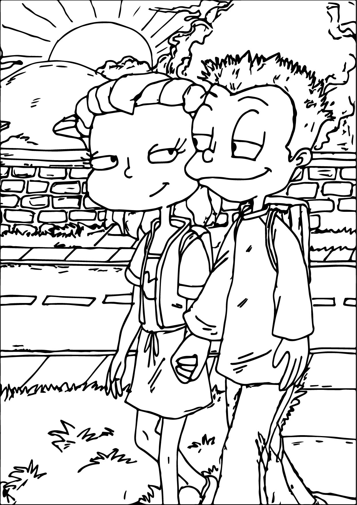 Tommy And Lil All Grown Up Coloring Page