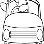 Toy Car Penguin Coloring Page
