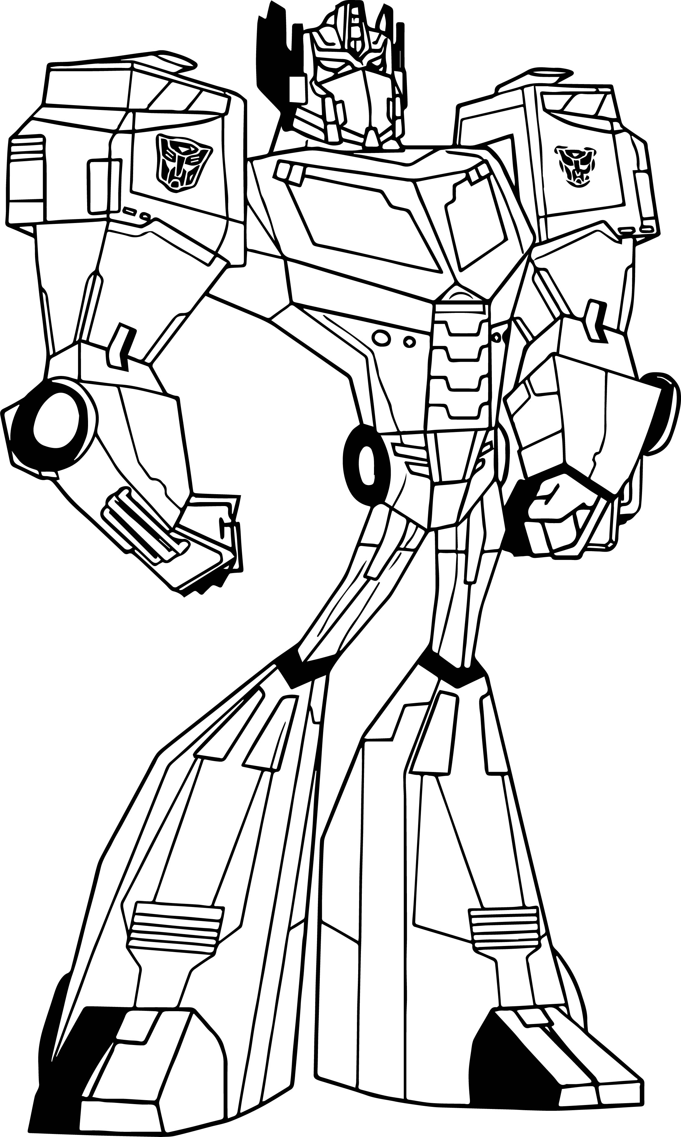 Transformers animated optimus prime coloring page for Transformers animated coloring pages