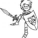 Trenk The Little Knight Armor Coloring Page