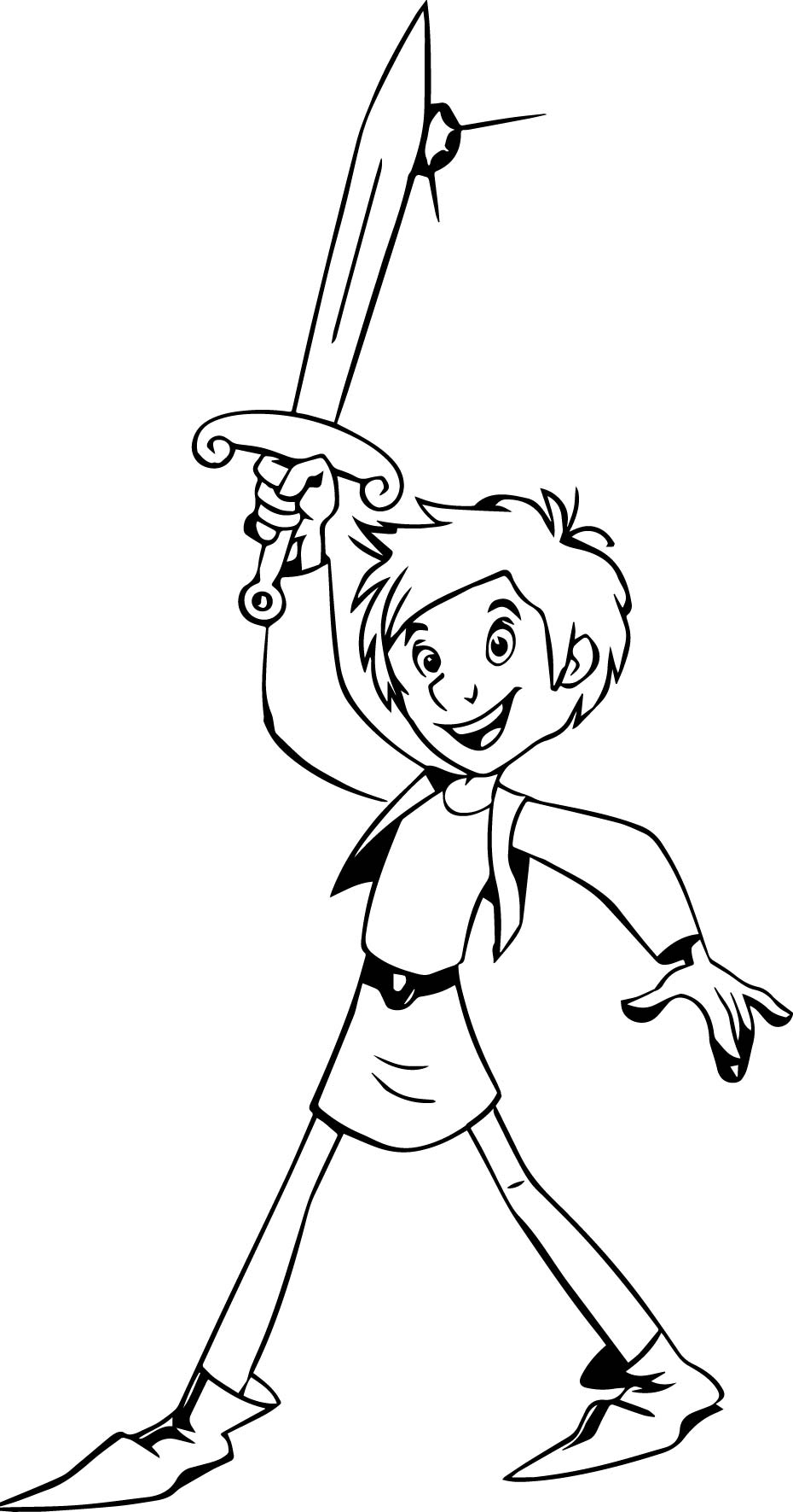 Trenk The Little Knight Trenk Coloring Page