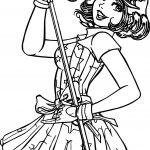 Turma Da Monica Songer Girl Coloring Page