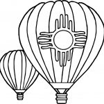 Two Air Balloon Coloring Page