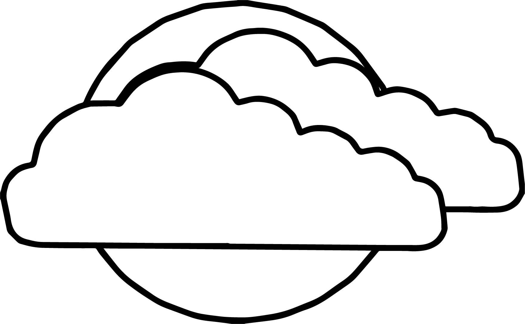 Two Clouds On Sun Coloring Page