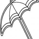 Umbrella April Coloring Page