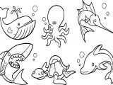 Underwater Animals Coloring Page