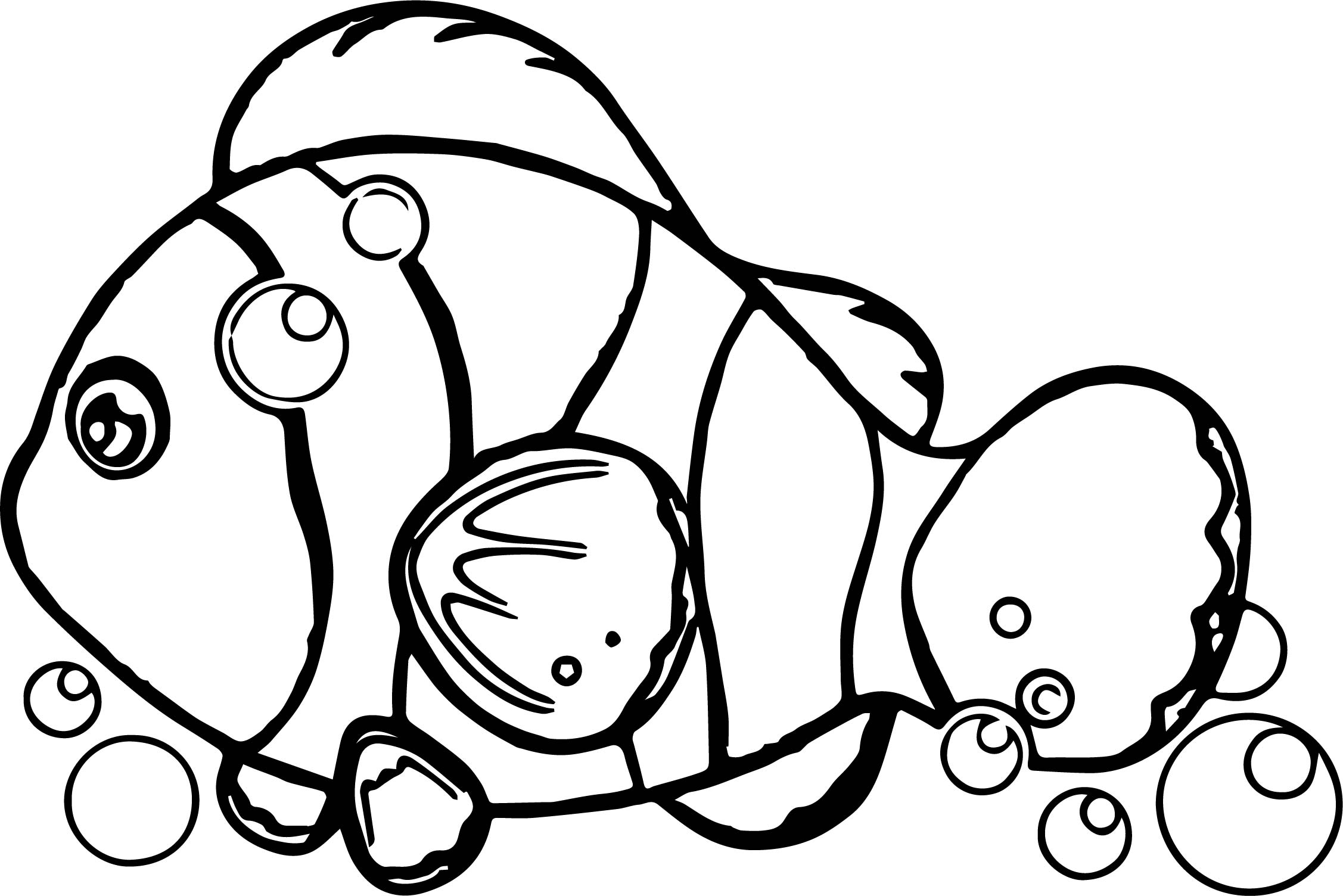 Underwater Fish Coloring Page