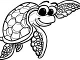 Underwater Tortoise Turtle Coloring Page