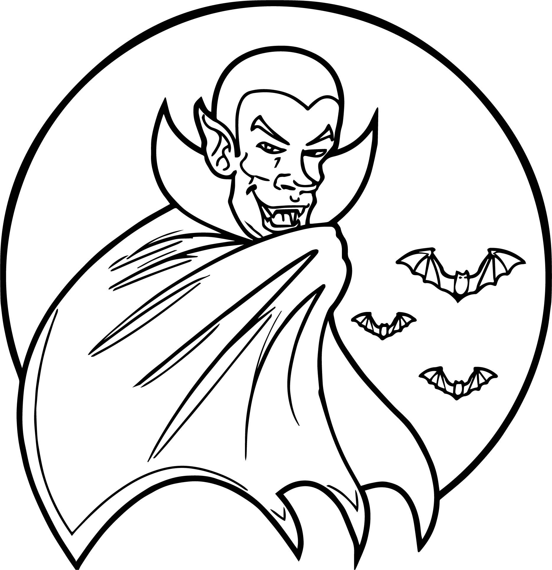 vampire bat coloring page wecoloringpage