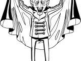 Vampire Man Coloring Page