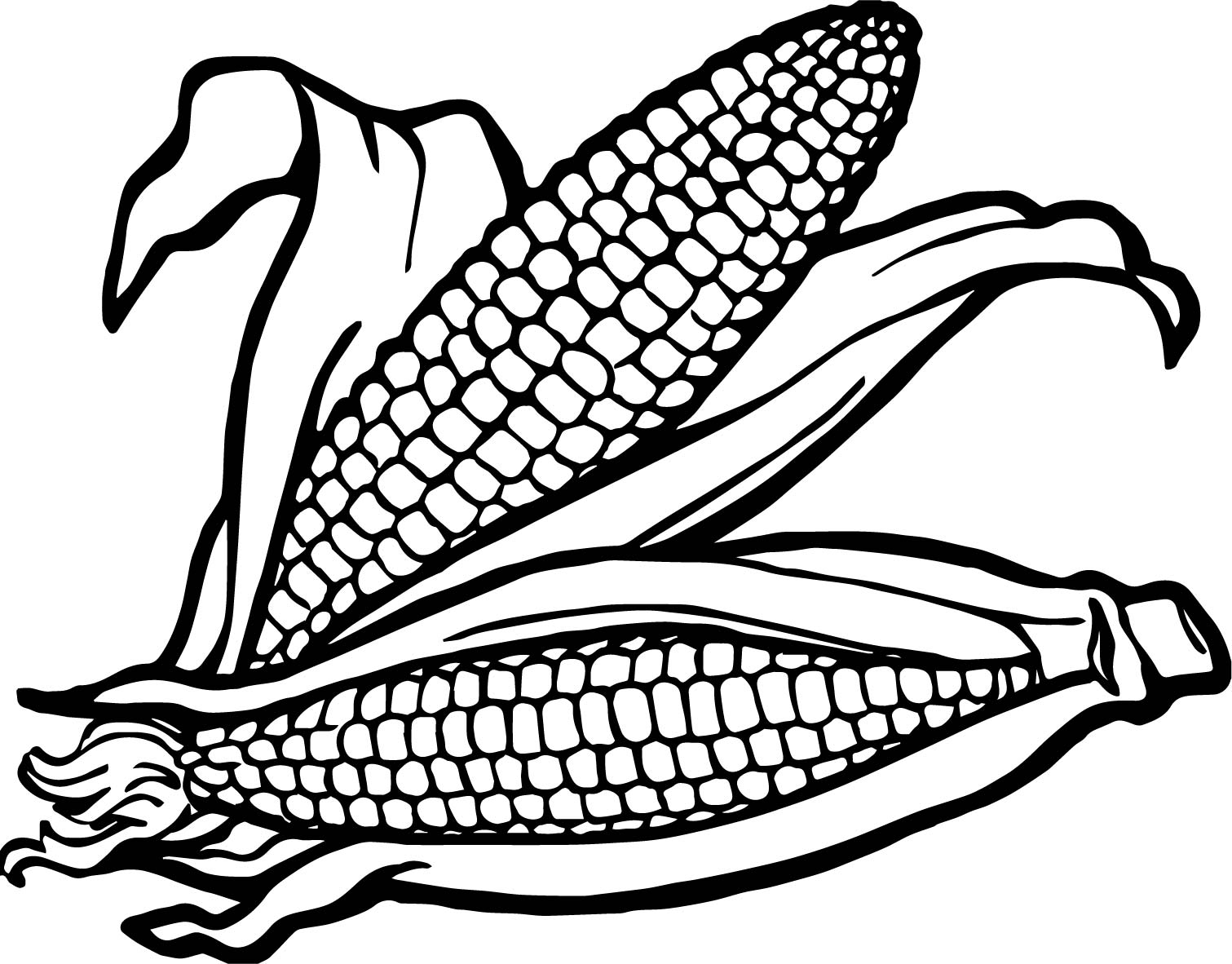 Vegetable Corns Coloring Page