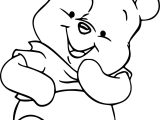 Winnie The Pooh Cute Baby Coloring Page