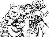Winnie The Pooh Family Coloring Page