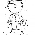 Winter Child Boy Coloring Page