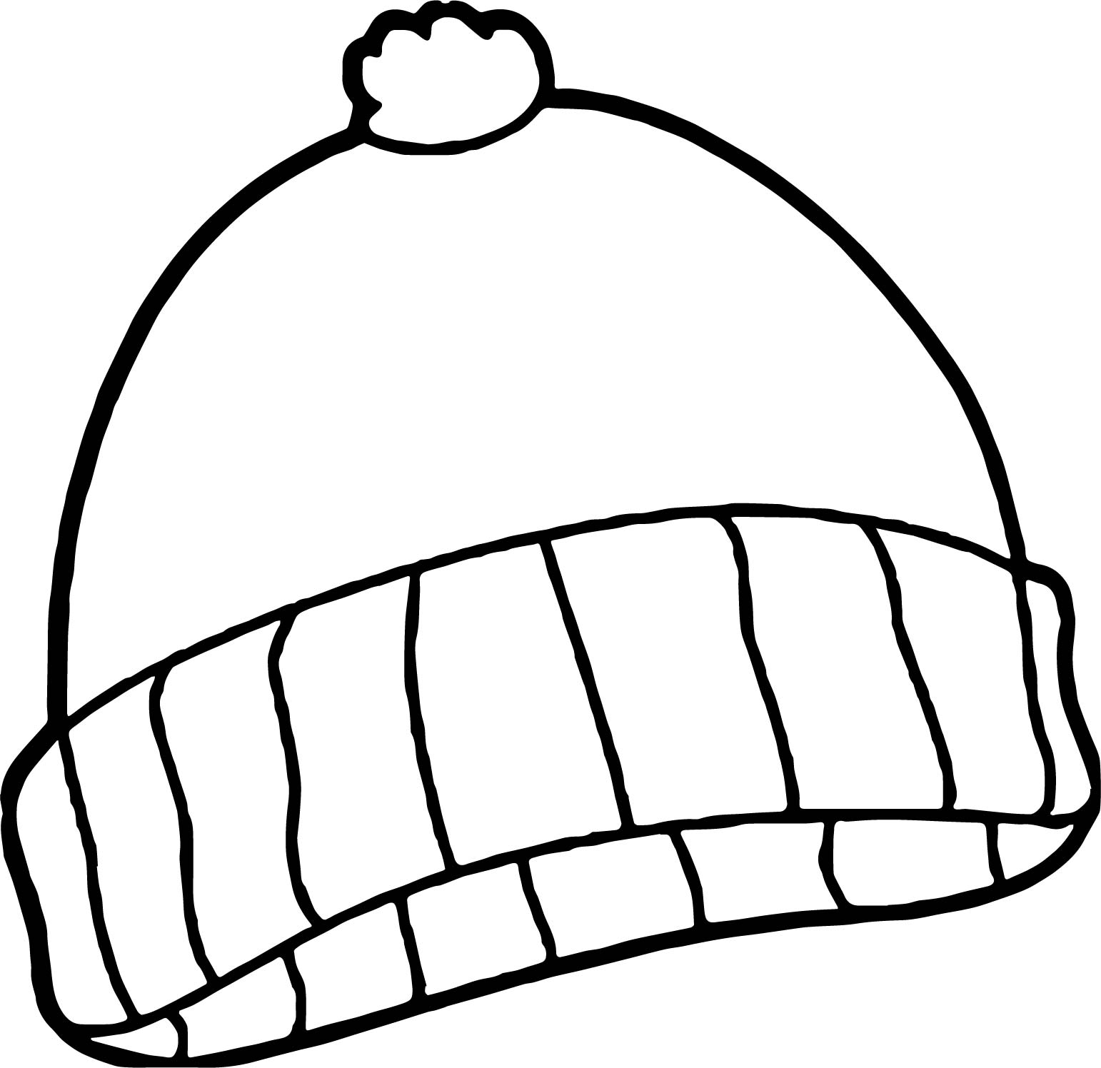Winter Cloths Coloring Page