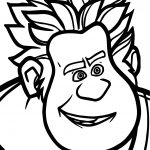 Wreck it Ralph Face Coloring Page
