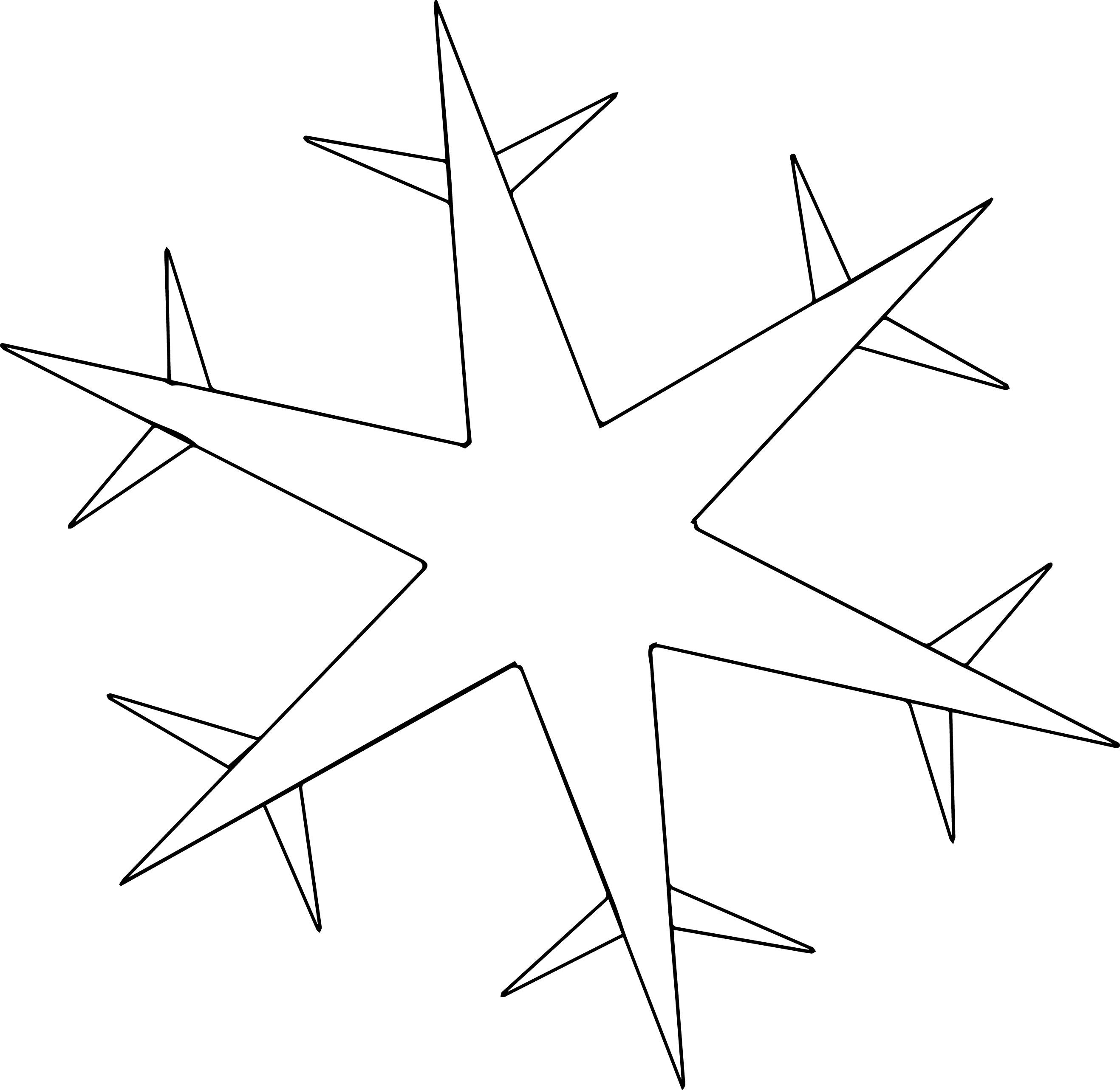 Xuehua Snowflake Coloring Page