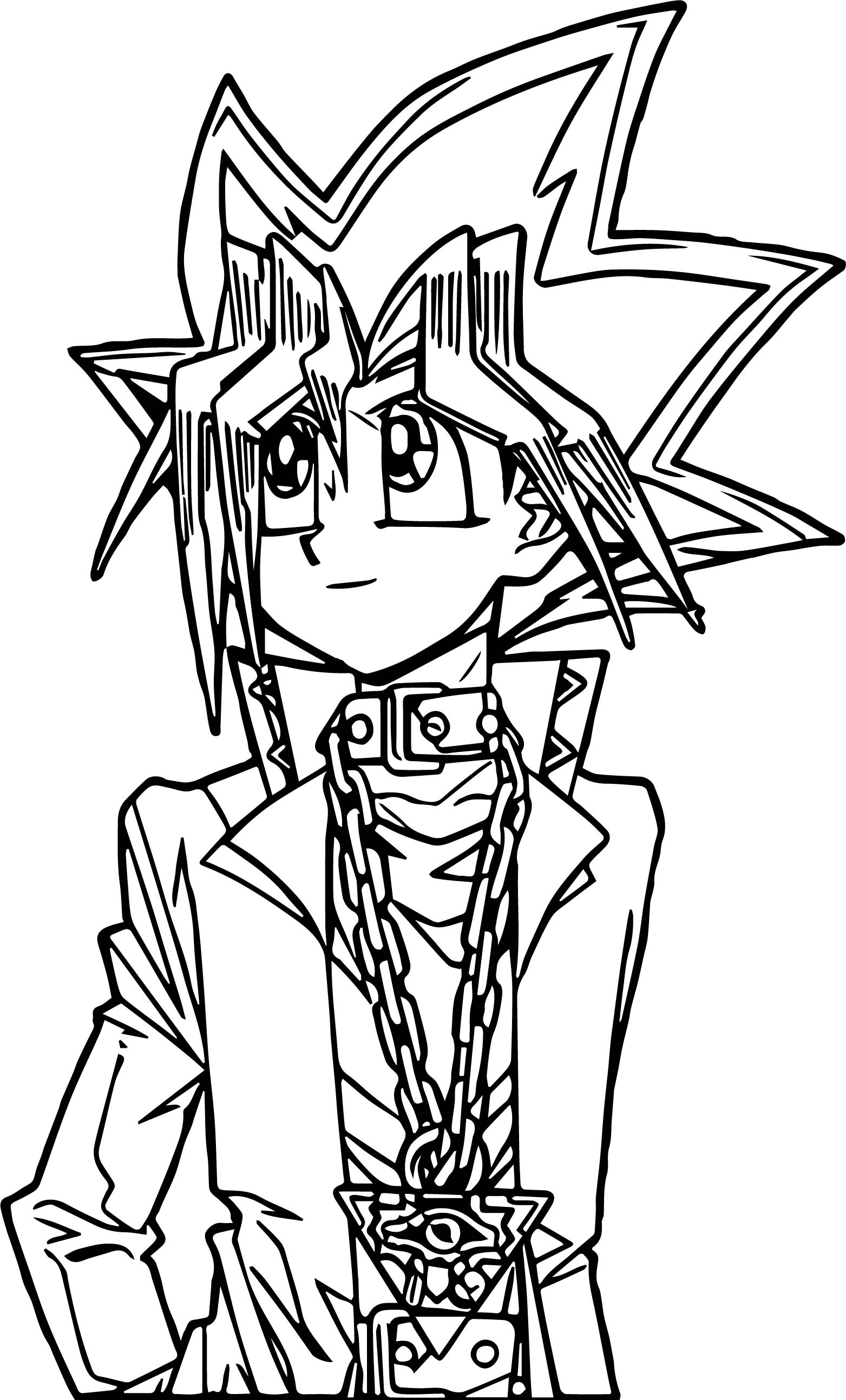 Yu Gi Oh Boy Coloring Page