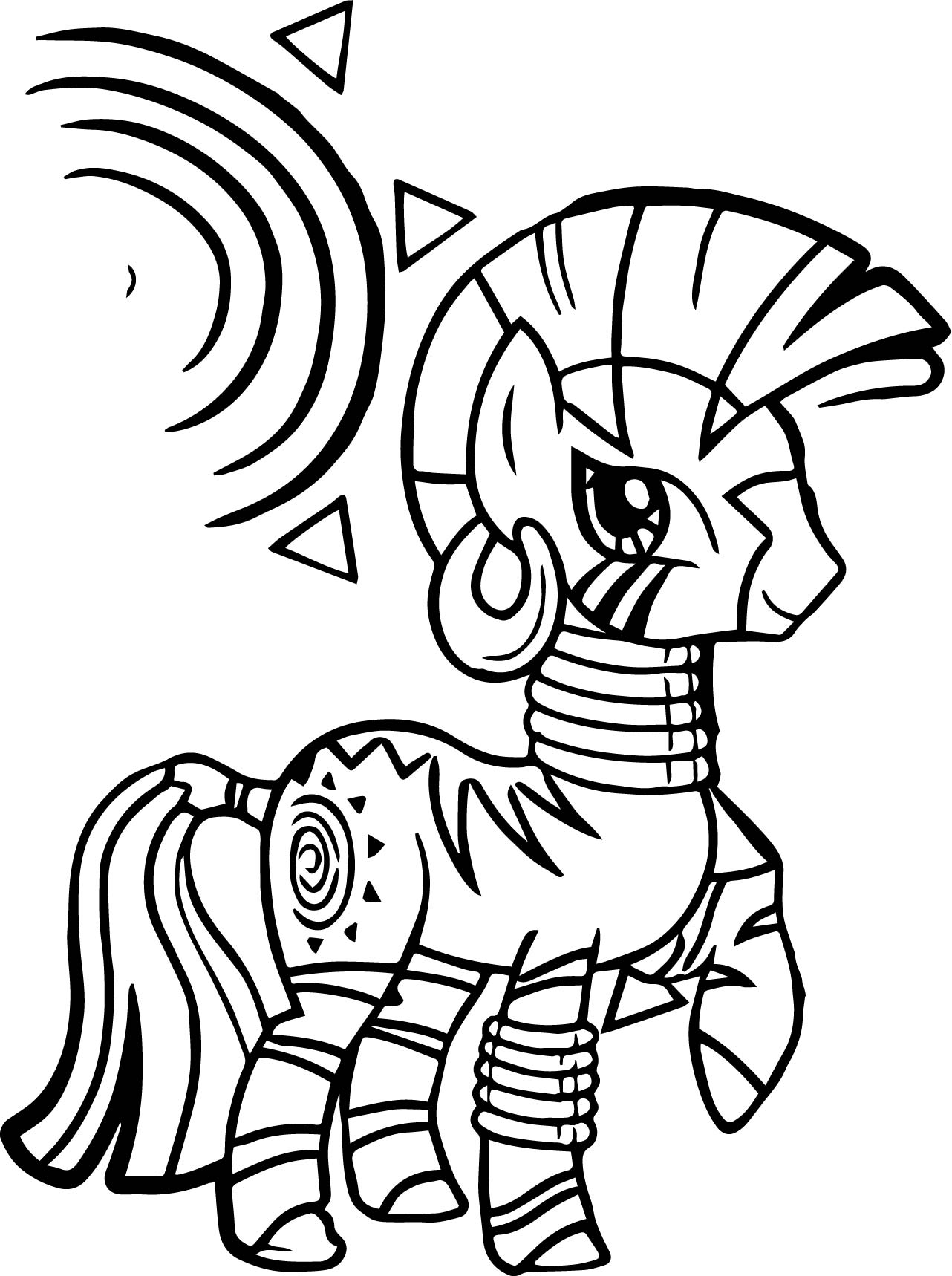 My Little Pony Zecora Coloring Pages : Zecora zakora coloring page wecoloringpage
