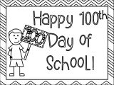 100 Days Of School Coloring Boy Page