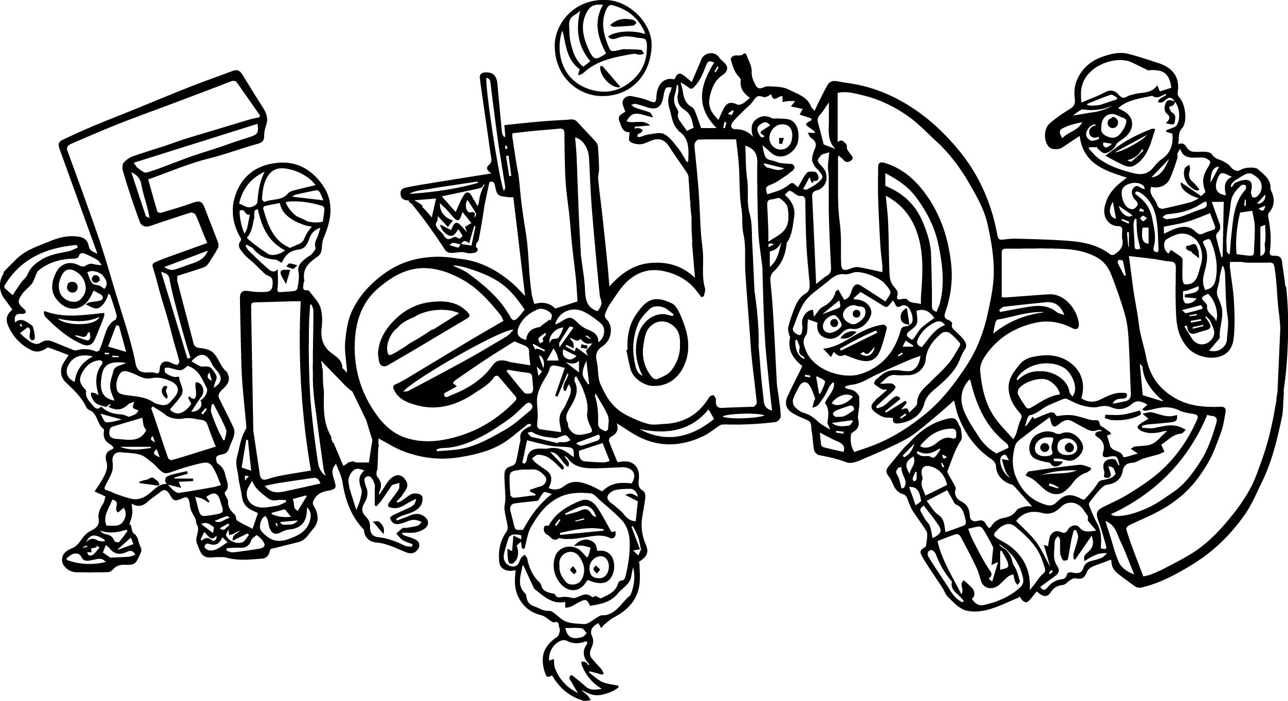 100 Days Of School Field Day Coloring Page | Wecoloringpage