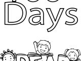 100 Days Of School Read Coloring Page