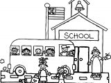 100 Days Of School Street Coloring Page