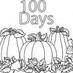 100 Days Of School Vegetable Marrow Coloring Page