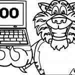 100 Tech Tiger Coloring Page