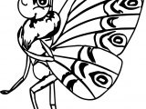 A Bugs Life Girl Butterfly Coloring Page