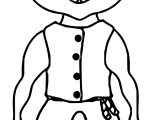 A Creepy Ghoul With Skin Strange Hair And Poorly Fitting Clothes Coming Out For Halloween Coloring Page