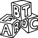 Abc And Other Cube Coloring Page