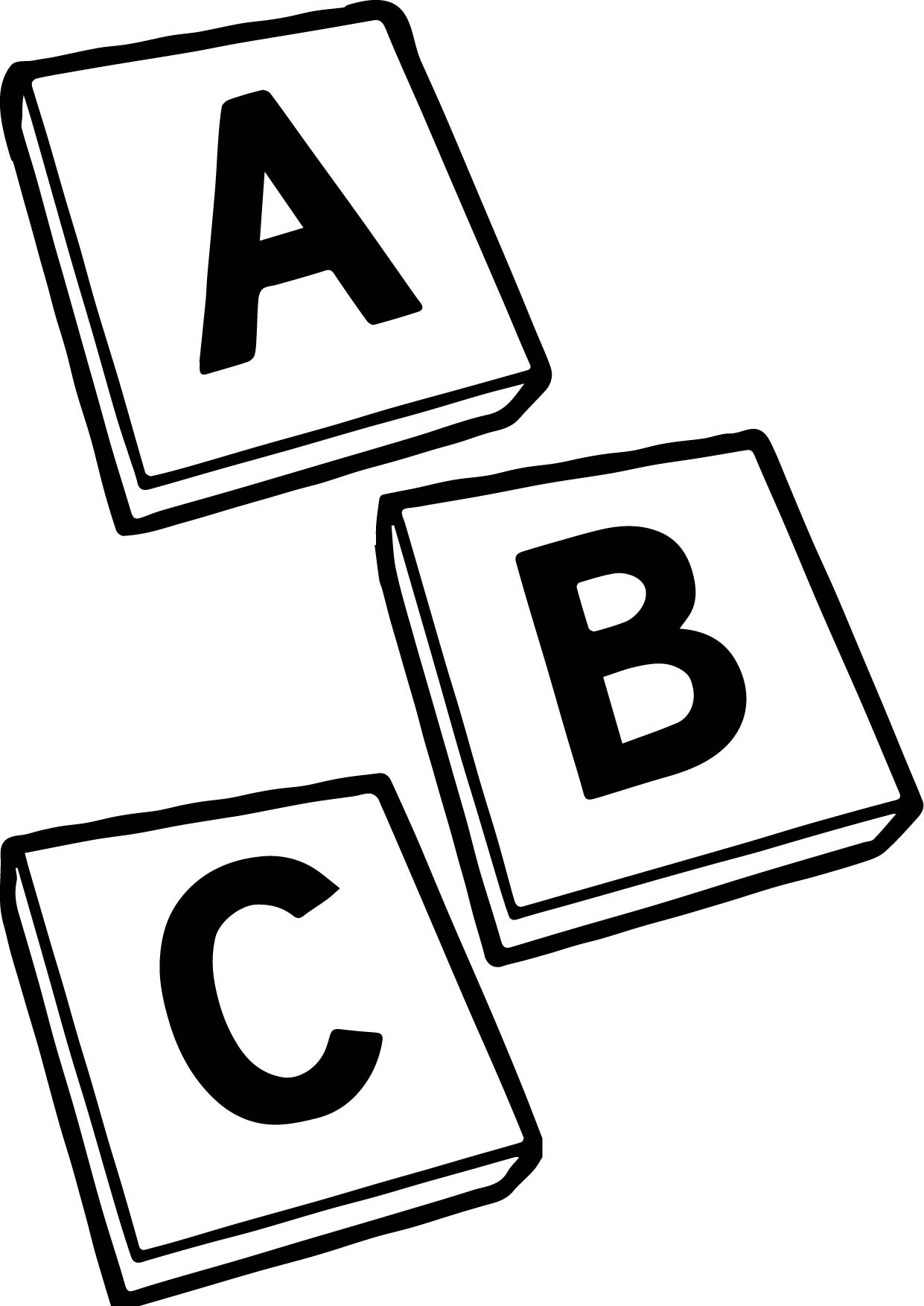 Abc Black And White Coloring Page