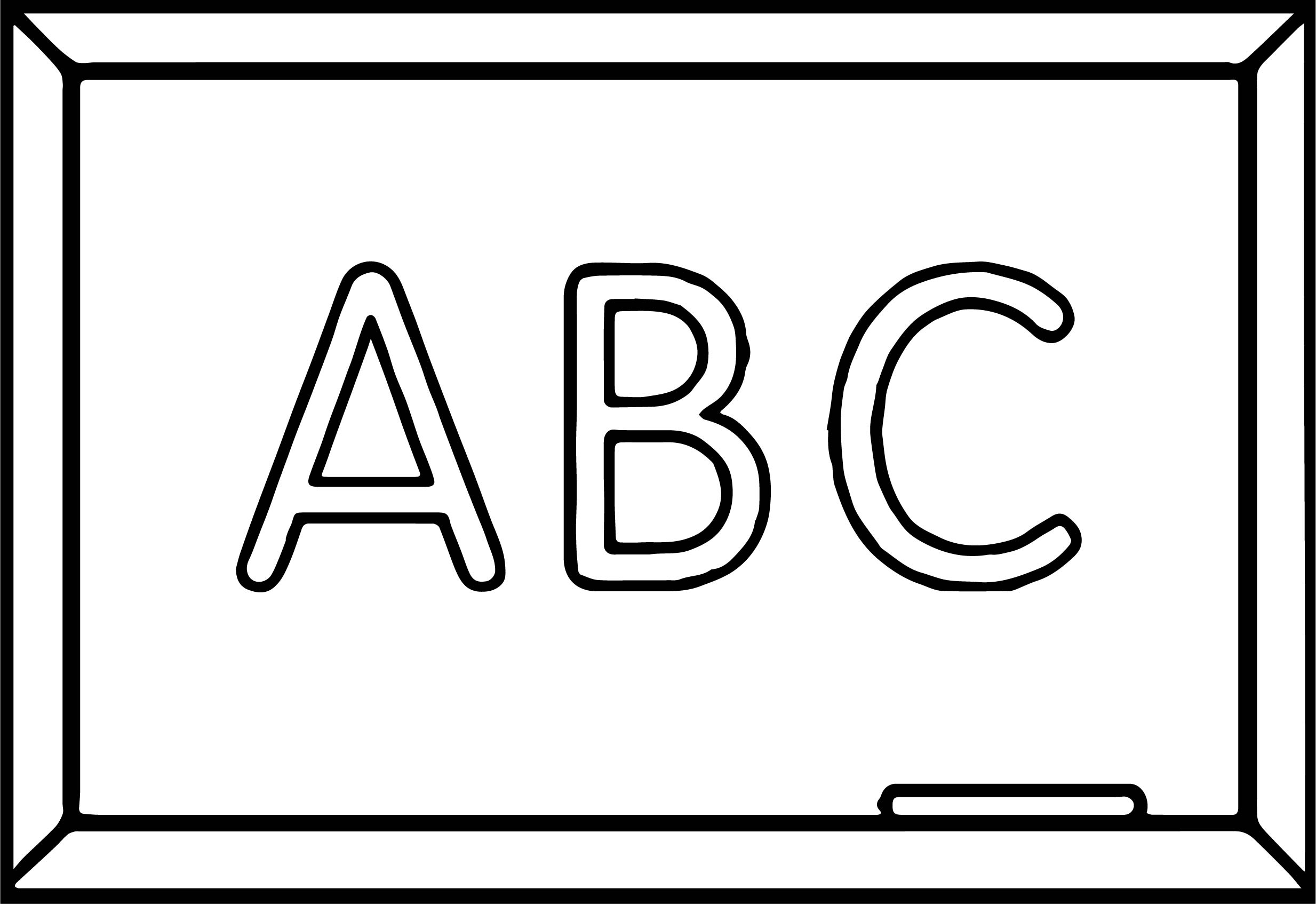 Abc Board New Coloring Page