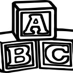 Abc Cube Coloring Pages